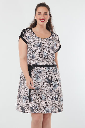 Robe avec un imprimé all-over