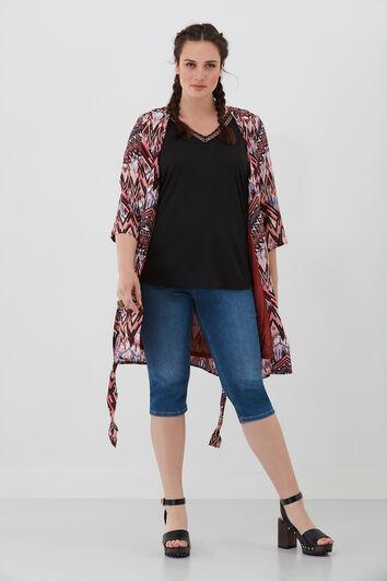 Veste kimono imprimée