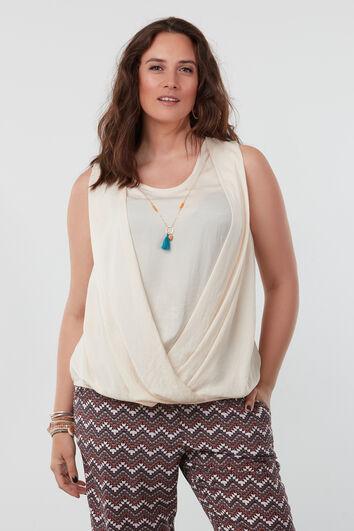 Chemise top avec des bijoux