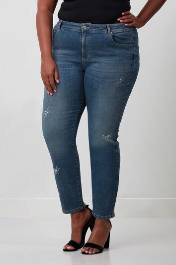 Jeans avec des détails en strass
