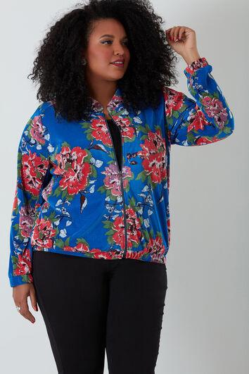 Veste plissée avec motif fleurs
