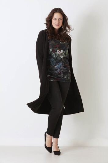 Veste longue tricotée