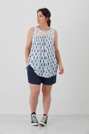 Chemise top avec imprimé
