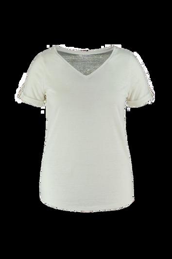 T-shirt en lin à encolure en V