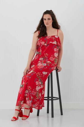 Robe avec motif fleurs
