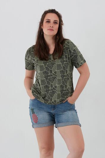 T-shirt basique à encolure en V