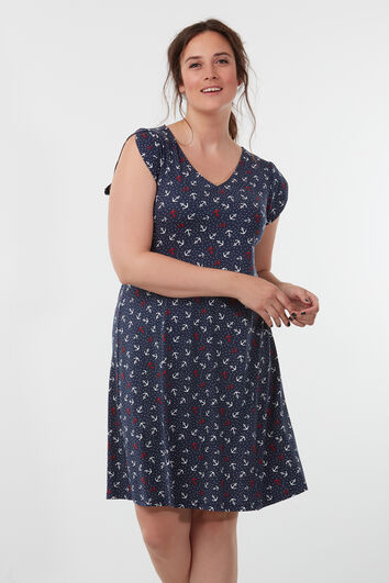 Robe avec imprimé all-over
