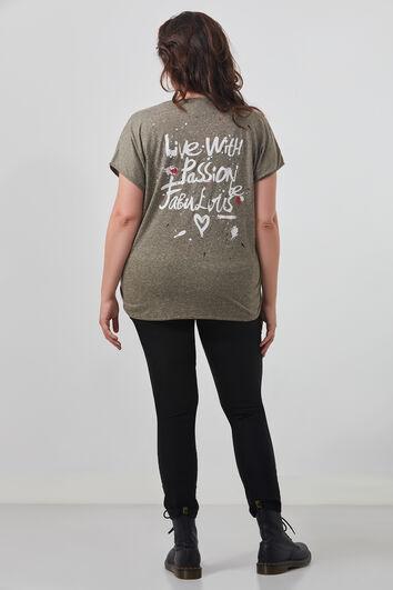 T-shirt avec imprimé sur le dos