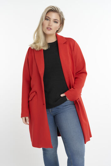 Long manteau en jersey