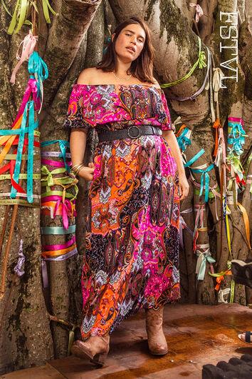 Robe colorée maxi