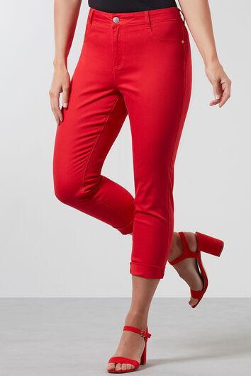 Pantalon sergé à coupe super skinny
