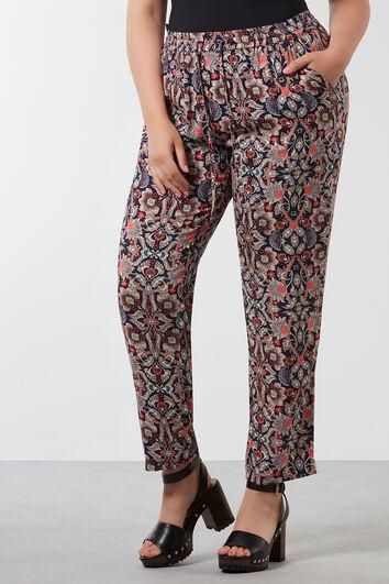 Pantalon coupe ample avec imprimé intégral