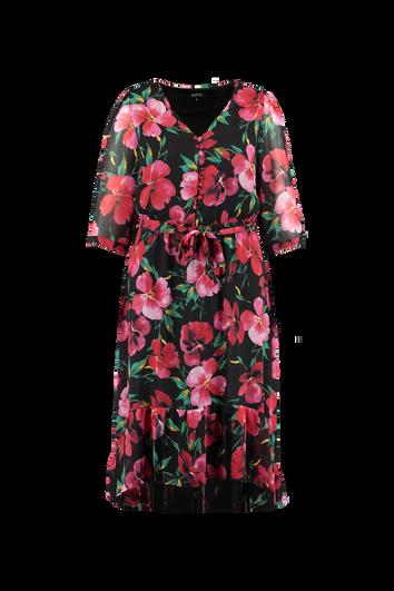 Robe à fleurs bordée