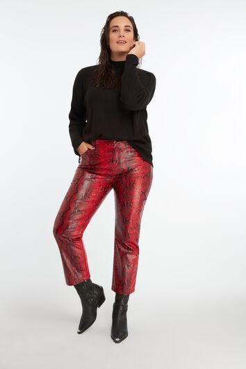 Pantalon avec imprimé de serpent