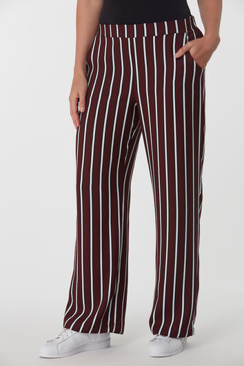 Pantalon large rayé