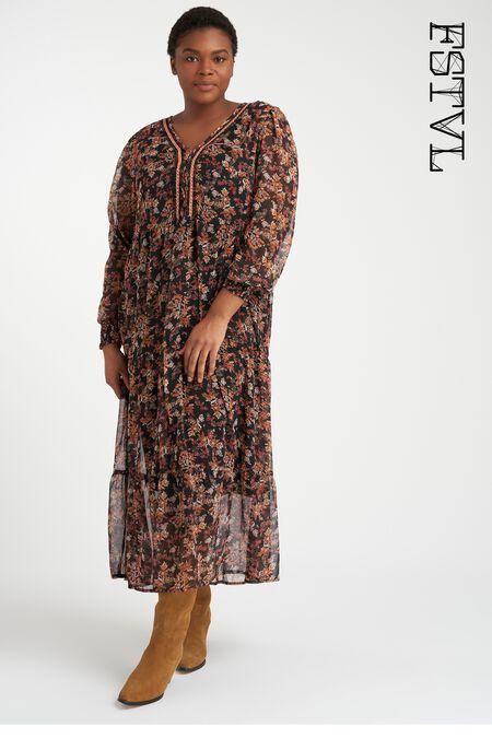 Longue robe à imprimé floral