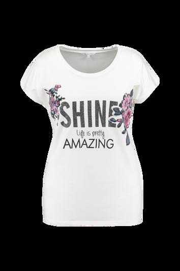T-shirt avec imprimé pailleté