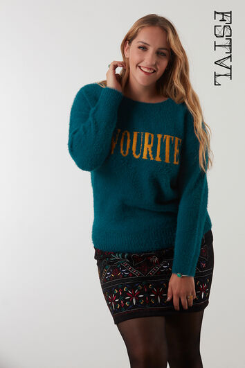 Pull-over duveteux