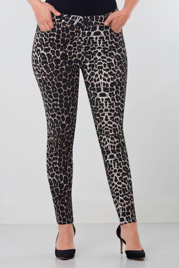 Pantalon avec imprimé léopard