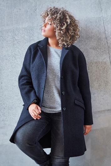 Manteau en laine avec boutons