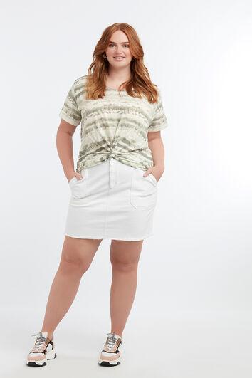 T-shirt effet tie-dye avec noeud