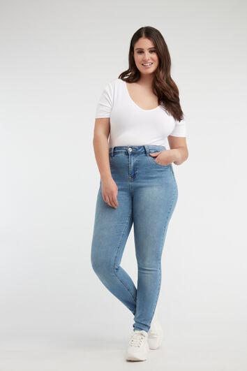 Skinny leg high waist CHERRY jeans