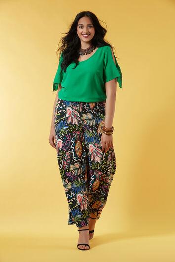 Pantalon large avec imprimé intégral
