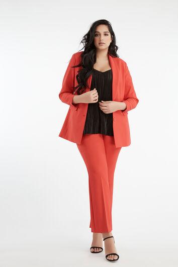 Lookbook Red Suit Long