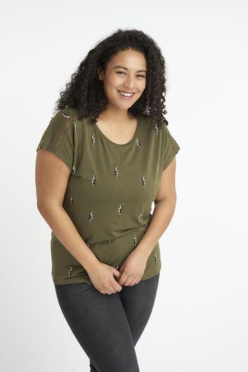 T-shirt à imprimé brodé