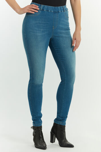 Tregging en denim coupe slim POPPY