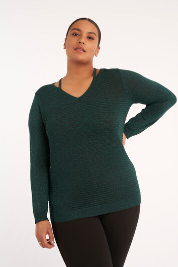 Pull-over ajouré