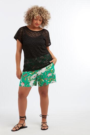 Shorts en viscose avec imprimé