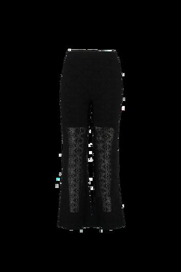 Pantalon large avec dentelle