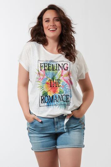 T-shirt avec bouton