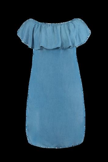 Robe épaules dénudées en tencel