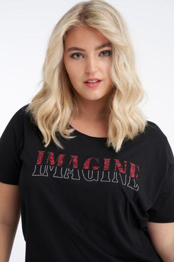 T-shirt à imprimé visuel