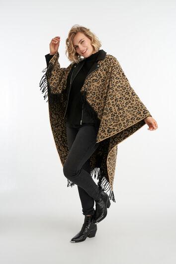 Cape à imprimé léopard