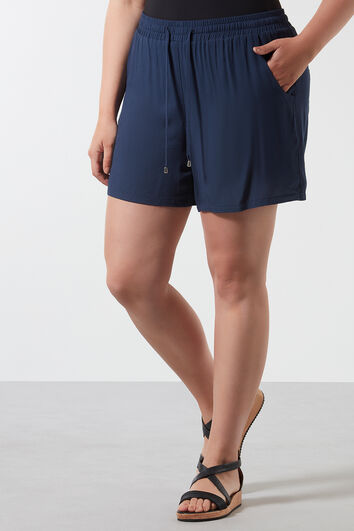Short en viscose uni