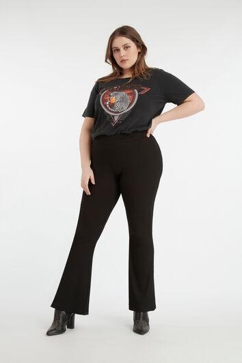 Pantalon évasé élastique