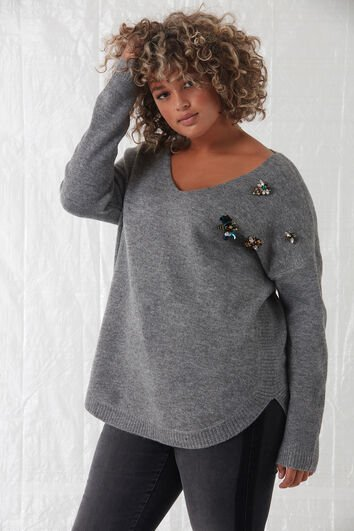 Pull avec broches
