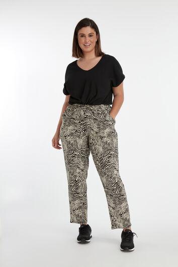 Pantalon coupe ample à imprimé