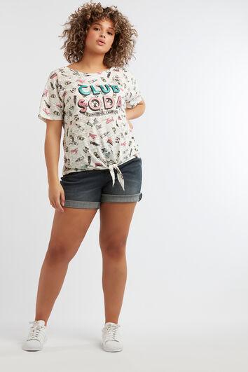 T-shirt à imprimé dessin animé