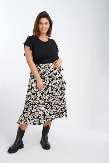 Top with flounce sleeves
