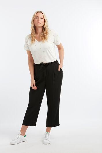 Pantalon coupe ample avec ceinture