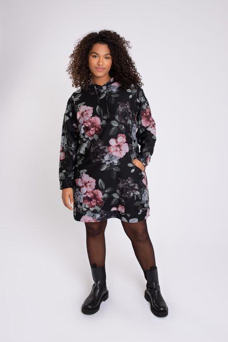 Robe pull avec imprimé floral