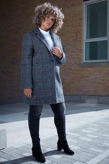 Manteaux en laine à carreaux