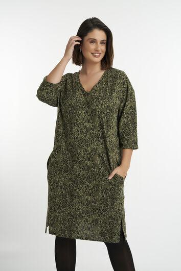 Robe décontractée avec imprimé et paillettes