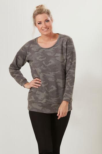 Sweat-shirt avec imprimé intégral