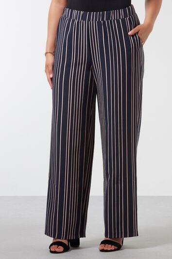Pantalon ample rayé