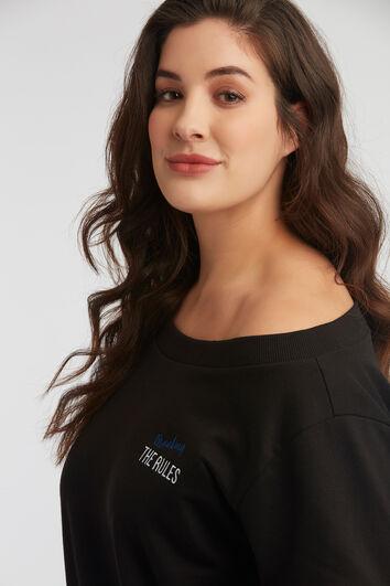 Sweat-shirt avec épaule dénudée